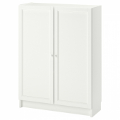 БИЛЛИ / ОКСБЕРГ Стеллаж с дверьми, белый, 80x30x106 см
