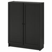 БИЛЛИ / ОКСБЕРГ Стеллаж с дверьми, черно-коричневый, 80x30x106 см