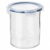 ИКЕА/365+ Банка с крышкой, стекло, пластик, 1.7 л